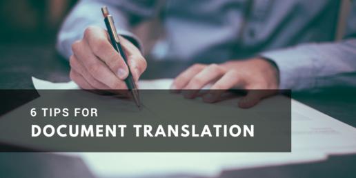 Six Tips for Document Translation